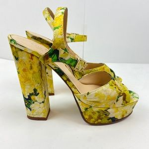 Kate Spade Ila Italian Sandal Platform Heels 6.5B